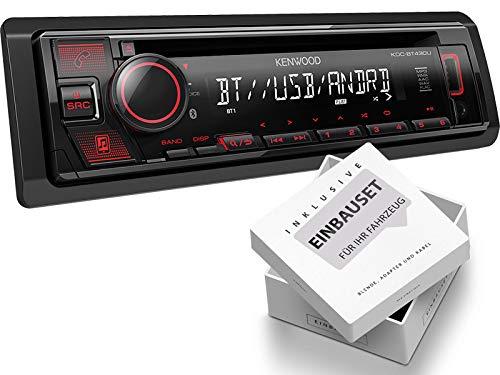 Kenwood KDC-BT430U 1-DIN Autoradio mit Bluetooth USB AUX passend für Audi A4 Avant 2004-2008 schwarz nur mit Chorus2, Concert2, BNS 5.0, RNS-E, Nicht für Bose