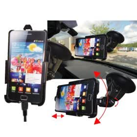 TDS Dedicated Windscreen Mount Car Holder (Samsung Galaxy S2 - Includes In-Car Charger)