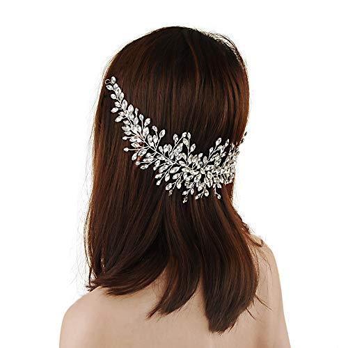 l Hair Vine Silber Strass Stirnband Hochzeit Haarschmuck Braut Kopfschmuck für Braut und Brautjungfern (HP237-3-15-1) ()