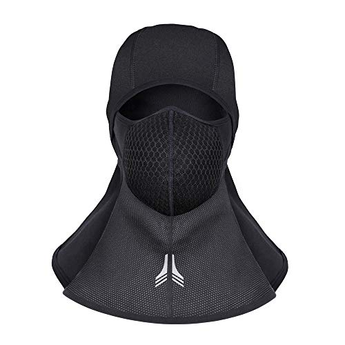 Price comparison product image Lingear Balaclava Ski Mask for Men Women Winter Cold weather Motorcycle Hood Full Face Mask With Activated Carbon Filter,Waterproof Windproof Neck Warmer for sports Snowboard helmet Skiing Black