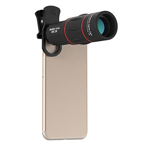 APEXEL APL-T18XZJ Universal 18X Teleskop Zoom Handy-Objektiv für iPhone Samsung Smartphones Clip Kameraobjektiv mit Stativ