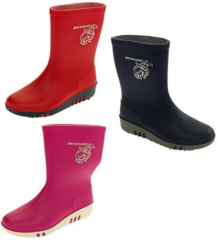 Dunlop Pluvieux Jour Eléphant Imperméable Bottes De Pluie Enfant Garçon Fille