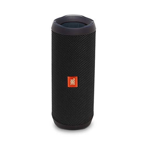 JBL Flip 4 Bluetooth Box in Schwarz – Wasserdichter, tragbarer Lautsprecher mit Freisprechfunktion...