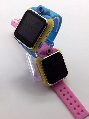 Ninos Kinder-Smartwatch, 3G, Handy, GPS-Tracker, drehbare Kamera, mit Mathematik-Spiel, ohne Vertrag