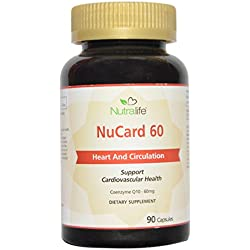Nutralife NuCard 60, Heart and Circulation, Coenzyme q10 Capsules 60mg, (90 Capsules)- IMPORTED FROM CANADA