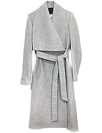 c4ce5dc22d MANGO Women s Wide Lapel Wool-Blend Coat 41051018 Grey
