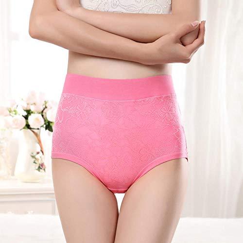 JFHGNJ Plus Size High Waist Panties für Frauen Unterwäsche Damen Modal Slips Big Size Floral Elastic Large Size Cotton Panties Weiblich-Dunkelviolett_XXXL - 6