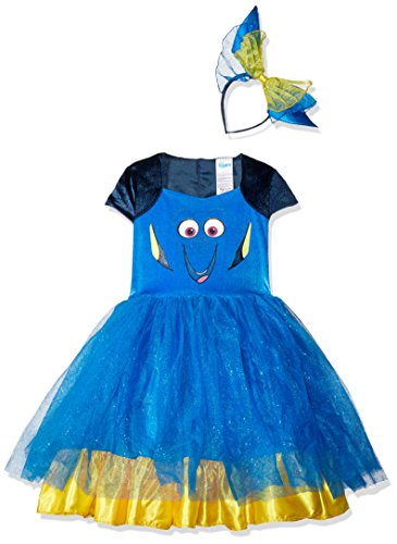 Kostüm Nemo Deluxe - Finding Dory Disney's Dory Toddler Tutu Deluxe Costume Large 4-6
