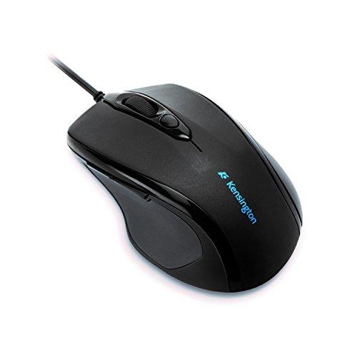 Kensington K72369EU ProFit Maus Kabelgebundene Mid-Size-Maus (mit ergonomischer Form für Rechtshänder und Plug und Play Betrieb, Kompatibel mit Windows und MacOS) schwarz -