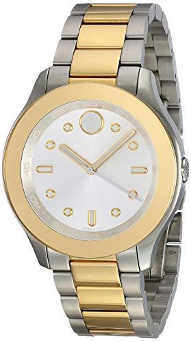 MOVADO Women's Bold Two Tone Steel Bracelet Swiss Quartz Analog Watch 3600418