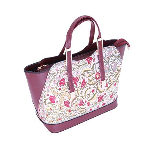 Hasham & Sons Ltd Handtaschen für Damen, extra groß, türkisches Kilim-Design, bestickt, Teppich Stil, Einkaufstasche, Einkaufstasche, Schule, UK Mädchen, Geschenk, Blau Multi 1030 -