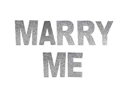Primaflor - Ideen in Textil Glitter Styropor 3D Buchstaben Glitzer Buchstaben Marry ME 10cm Hoch Hochzeitsdeko Antrag Verlobung Deko