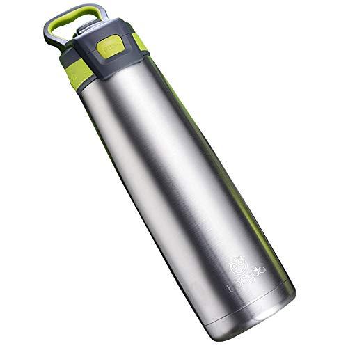 gngs Edelstahl 18/8Edelstahl-Thermobecher | Vakuum Isoliert Tumbler mit Silikon Stroh | Sport Reise Becher für heiße und kalte Wasser und Getränke, 25ounce grün