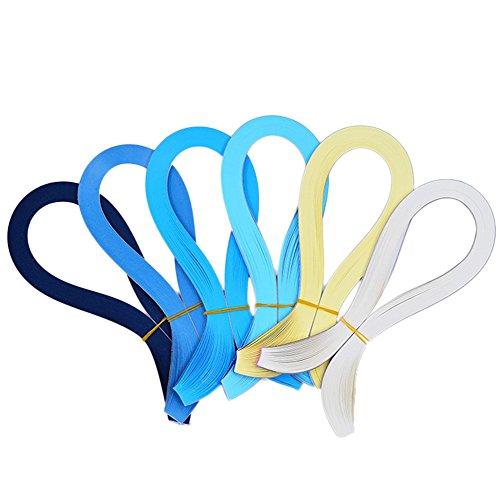 kanggest 720psc tiras de papel para filigranas de papel para Origami para DIY Crafts y artes de papel (serie azul)