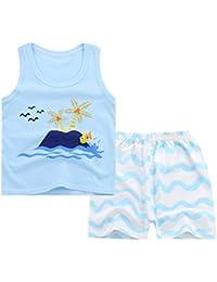Doubleer - Conjunto de ropa de bebé unisex de algodón para recién nacido