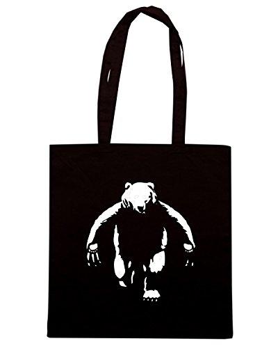 T-Shirtshock - Borsa Shopping FUN0726 bearman sticker rectangle Nero