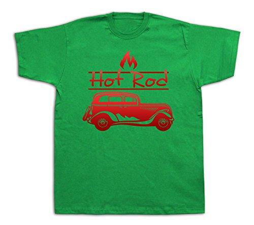 New Mens cotton T-shirt print Hot rod Classic retro vintage car graphic design