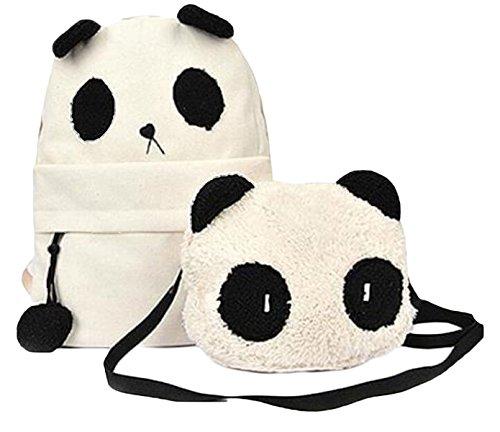 Panda Sac à Dos et Sac à Bandoulière à L'étudiant Filles