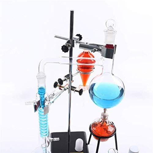 LXHQ BBRTH Destillationsapparatur for einfache Versuche in der Biochemie Glasreinigung und Veredelung von ätherischen Ölen Lehrinstrument Transparent Visible 525