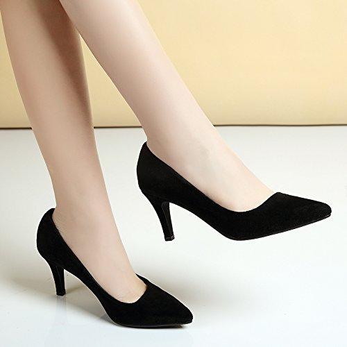 FLYRCX Autunno e Inverno sharp ladies scarpe in pelle Europa dimensioni: 33-40,36 35