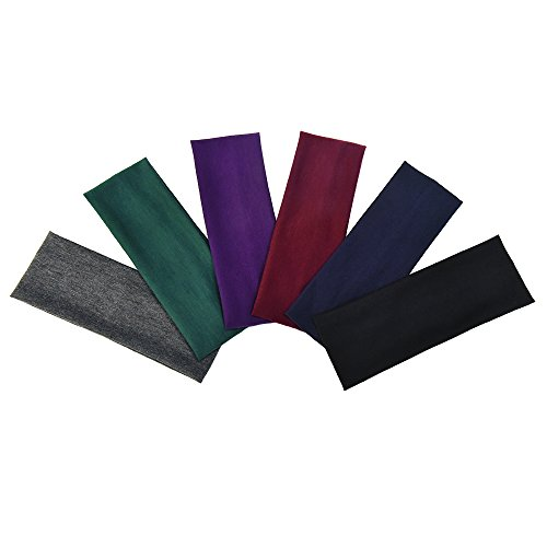 eboot-6-pieces-stretch-elastic-yoga-cotton-headbands-for-teens-and-adults