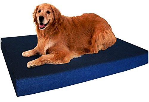 dogbed4less Extra Groß Orthopädische Hundebett aus Memory-Schaum, wasserdicht Liner, extra Pet Bett, 101,6x 88,9x 10,2cm (Extra Bett Orthopädisches Großes)