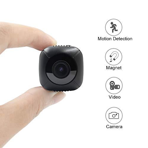 Mini Kamera Überwachungskamera TANGMI 100P HD Tragbare Kleine Videokamera Mikro Nanny Cam mit Bewegungserkennung Compact Sicherheit Kamera Camcorder 120 ° Blickwinkel (Babysitter Kamera)