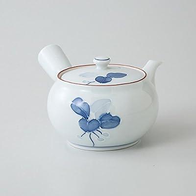 Saikai poterie Bleu et blanc Manryo Verre Motif théière Japon Hasami fabriqué 99562