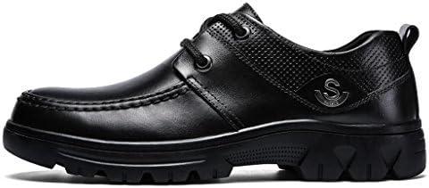 Zapatos de Hombre Zapatos de Conducción Zapatos de Trabajo Zapatos de Cuero Dentro de los Zapatos espesantes Invisible...