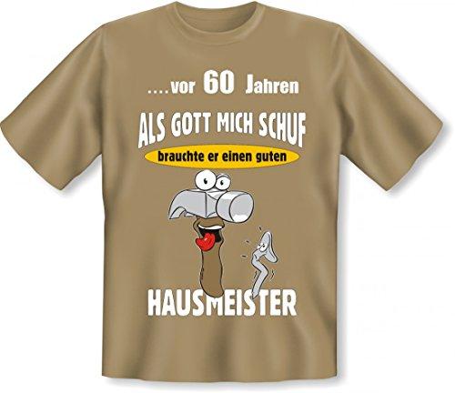 60ster Geburtstag T-shirts (Lustiges T-Shirt zum 60. Geburtstag für Hausmeister - Geschenk Idee Größe:XL)