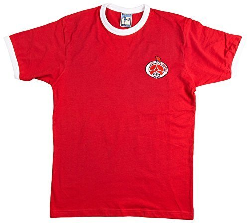 Old School Football Bournemouth 1980s Fußball T-Shirt - Rot, XL