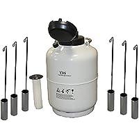Huanyu - Recipiente de nitrógeno líquido Cryogénico LN2 con correas y bolsa de transporte (30 L)