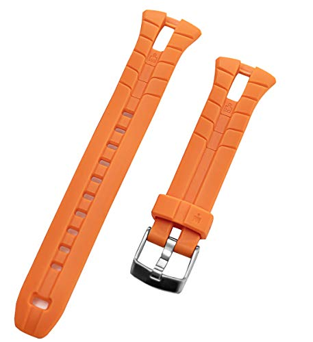 TIMEX Men's Ironman Triathlon 50-Lap T5K220 WR 100m Orange Original Replacement Watch Band (Timex Ironman 50)