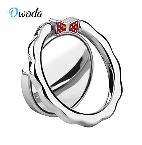 Owoda Romantische Herz Kristall Telefon Ring Stand Halter 360 Grad Rotierende Ring Griff Handy und Tabletten Anti Drop Ring Für iPhone iPad Samsung Nexus (Silber)