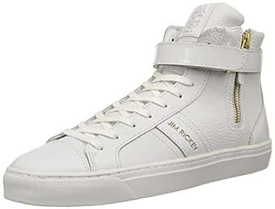Jim Rickey Pivot, Sneakers Hautes homme, Blanc (Tumbled/Matt Patent White/Gold), 41 EU