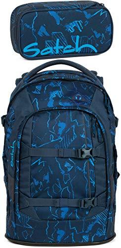Satch Pack Blue Compass 2er Set Schulrucksack & Schlamperbox