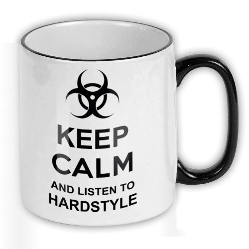 FunTasstic Tasse Keep calm and listen to hardstyle Kaffee-Pott (T156)