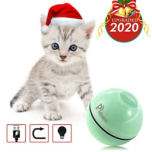 Pidsen Juguete para mascotas,Juguete eléctrico interactivo para gatos-Bola giratoria de 360 grados,Juguete para mascotas recargable USB,Luz LED giratoria incorporada,Estimular el instinto de caza   Mantenga a su gato mascota ocupado  🐾 ¿Quieres que t...