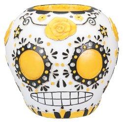 oten Gelb Sugar Skull Figur (Tag Der Toten Dekor)
