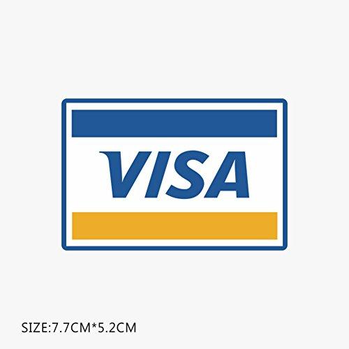 ZYCLSSRV Logo Von Visummarken,Shop Schrank Zähler Visa Logo Aufkleber -