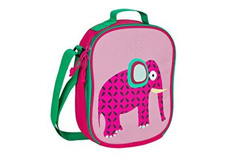 LÄSSIG Mini Lunch Bag isolierte Kühltasche Lunchtasche mit verstellbarem Schulterriemen und Namensschild, Wildlife Elephant -