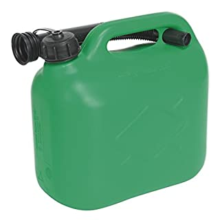 Sealey JC5G 5ltr Fuel Can - Green