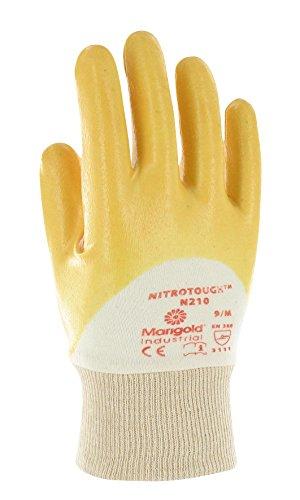 Ansell Nitrotough N210 Gants pour usages multiples, protection mécanique, Jaune, Taille 10 (Sachet de 12 paires)