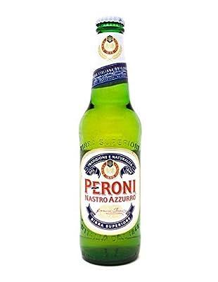 12 Flaschen Peroni Nastro Azzurro Birra Superiorea 0.33l inc. 3.00€ EINWEG Pfand Glas Italien Bier 5,1% Vol.