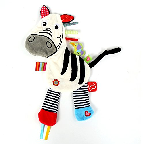 Vital Innovations Ll-Fr14051 Label-Label Schmusetier Zebra, weiß