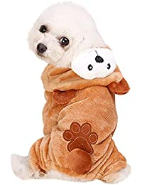 Ropa Perro Pequeño Invierno Franela Sudadera con Capucha Modelado Animal Abrigo Jersey para Mascota Chihuahua Yorkshire Cachorro Gusspower