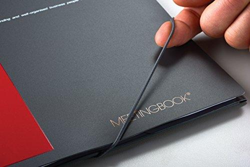 Ansicht vergrößern: OXFORD 100100362 Meetingbook International A4 kariert 4-fach gelocht 2 in 1 Collegeblock und Gummizugmappe grau