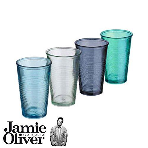 Jamie Oliver-Gläser, aus recyceltem Glas-Set, 4-teilig