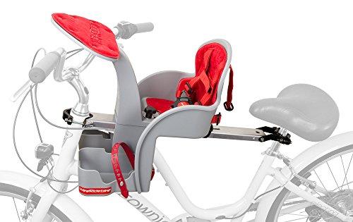 WeeRide 98072e SafeFront Classic Fahrradsitz vorn für Baby, Grau