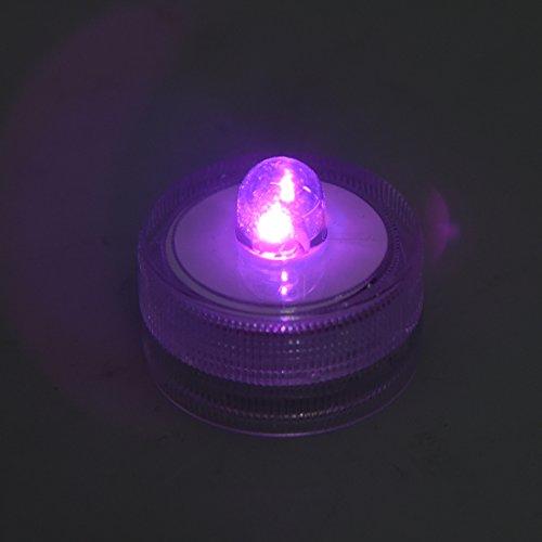 Luz subacuatica - TOOGOO(R) Luz sub de bateria subacuatica / sumergible de boda impermeable 10 luces ~ROSADO ~ boda ~ Luz de te